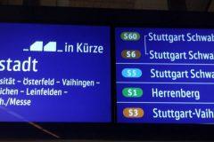 Farbige Anzeige von S-Bahnen mit Zugvereinigung eines künfigen Zuges (S6/S60).