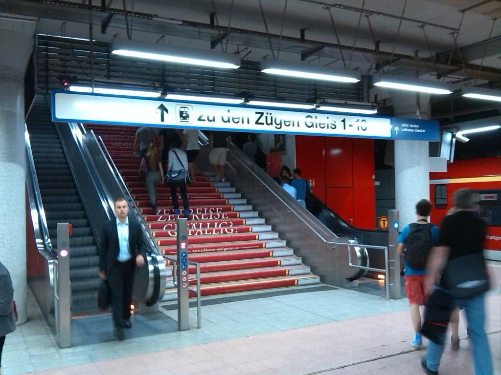 Aufgang zum Hauptbahnhof