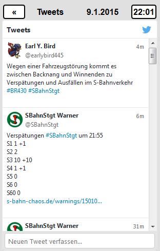 S-Bahn Stuttgart Monitor - #SBahnStgt Tweets