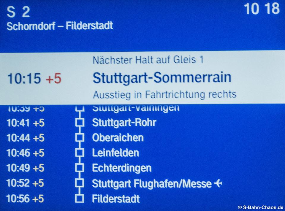 FIS-Monitor nächste Halte nach Sommerrain