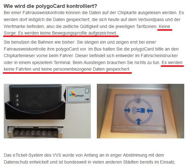 polygoCard Information beim VVS