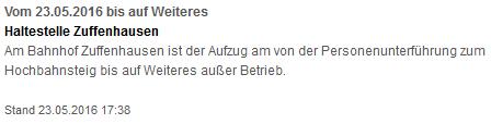 VVS Aufzüge Zuffenhausen