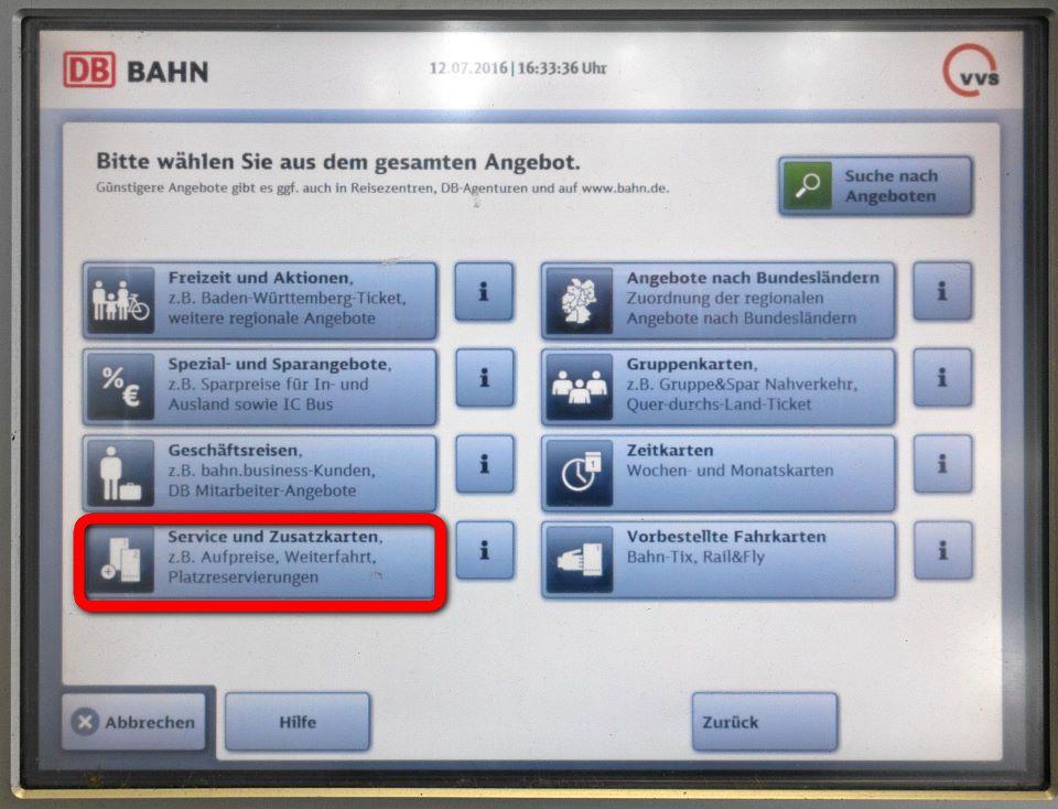 Baden Wurttemberg Karte Db.Losen Eines Anschlussfahrscheins Am Db Automaten S Bahn