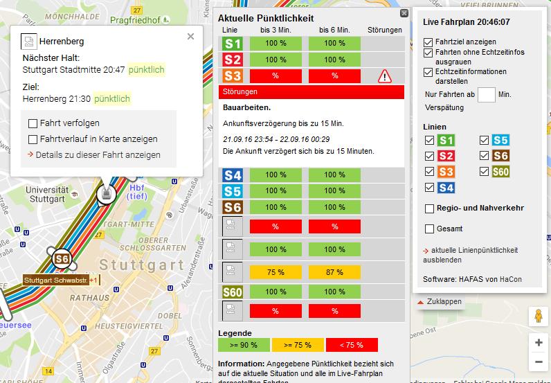 Aktuelle Version der Live-Fahrplan Web-Anwendung