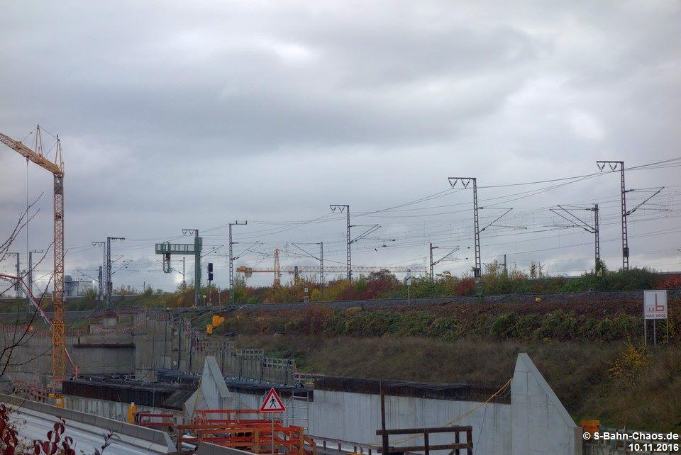 Bauarbeiten an der zukünftigen Haltestelle Mittnachtstraße