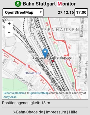 Standortbestimmung mit OpenStreetMap