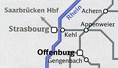 Baden-Württemberg-Ticket-Kartenausschnitt Straßburg