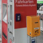 DB-Ticketautomat und VVS-Entwerter