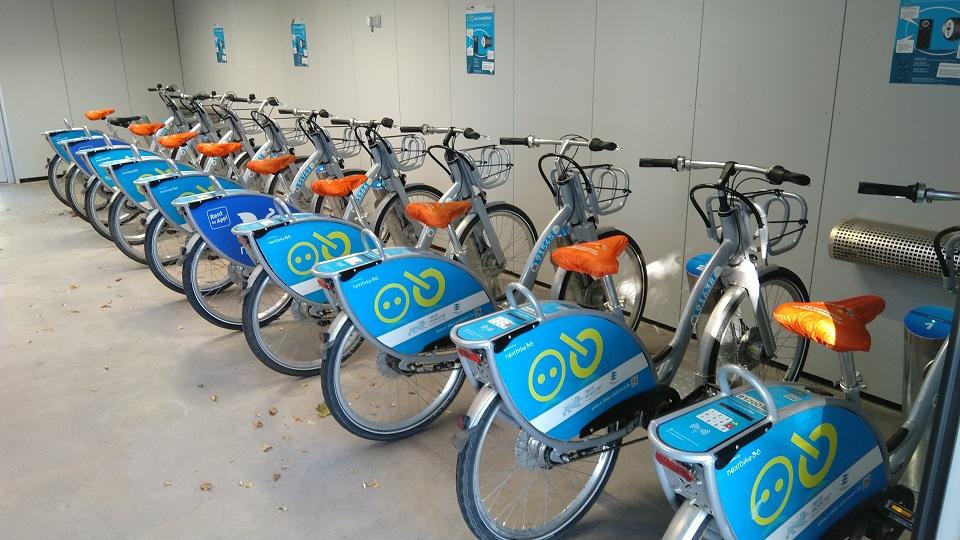 Voll bestückte Nextbike E-Bike Leihstation Holzgerlingen