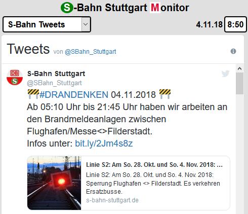 Offizielle Tweets der S-Bahn Stuttgart