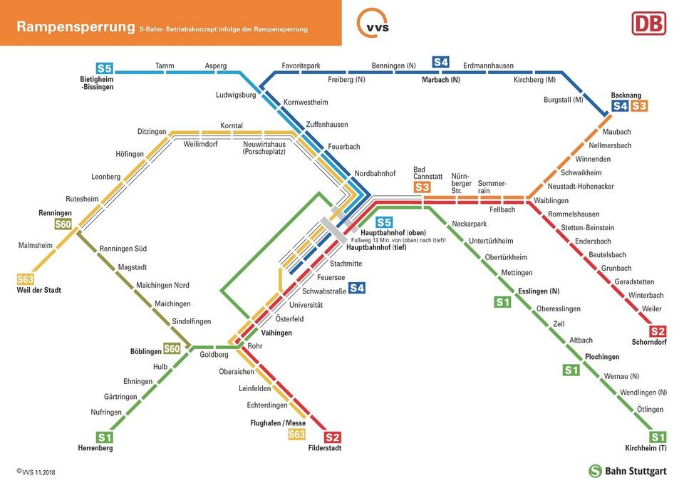 Linienplan Rampen-Teilsperrung