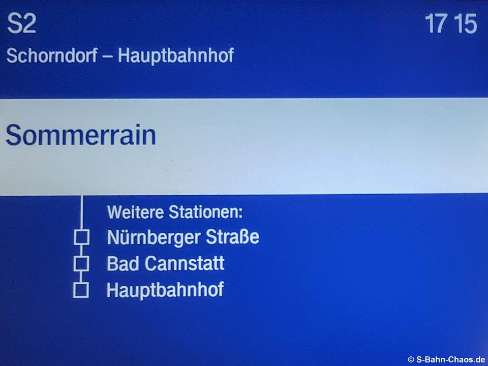 S2 (S21) nach Hauptbahnhof