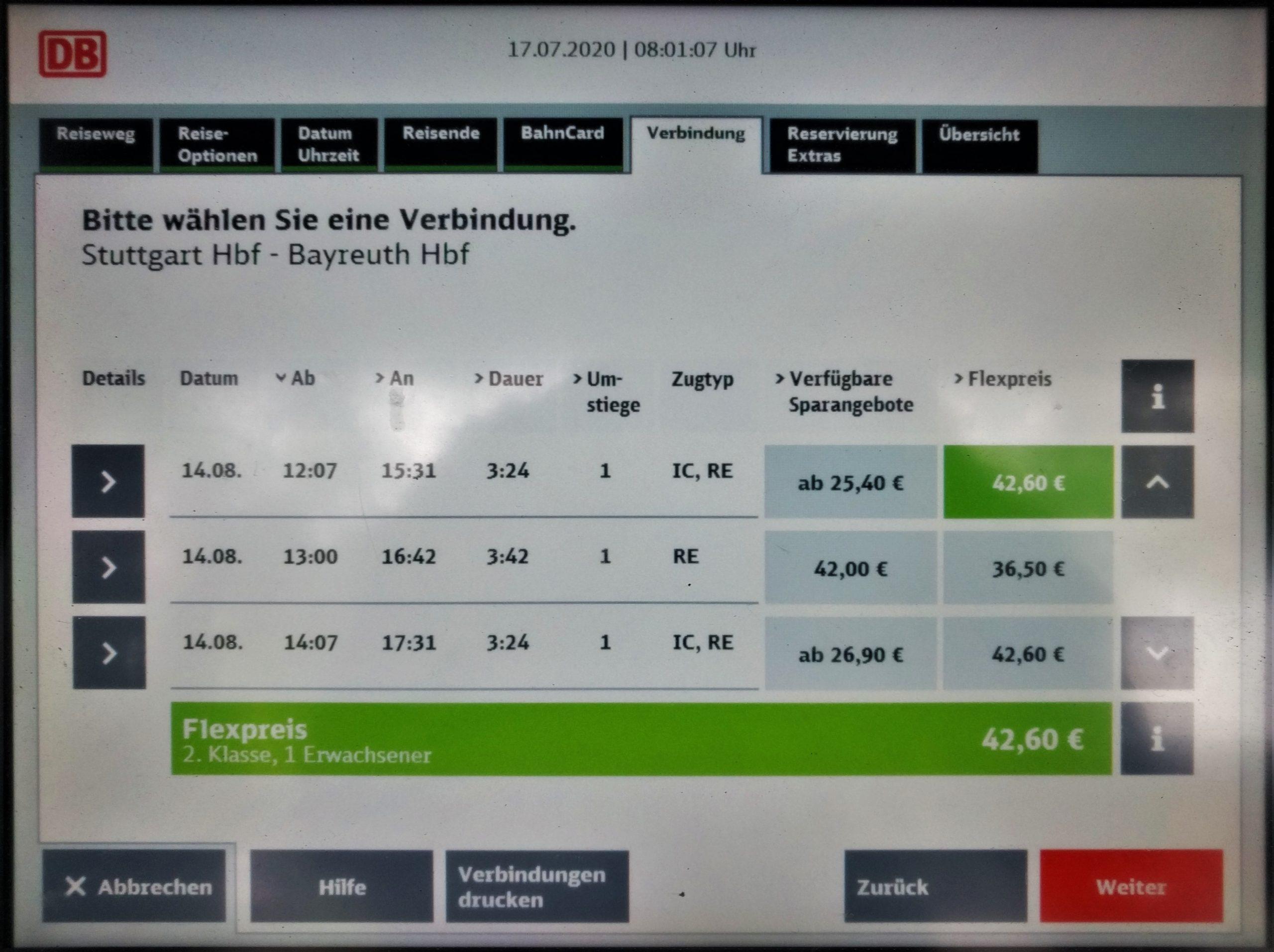 DB-Fahrscheinautomat
